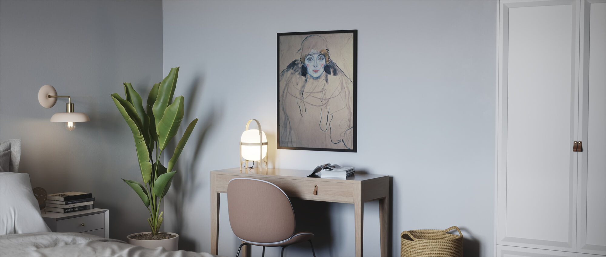 Nainen, Gustav Klimt - Kehystetty kuva - Makuuhuone
