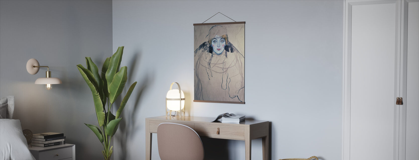 Kopf einer Frau, Gustav Klimt - Poster - Büro