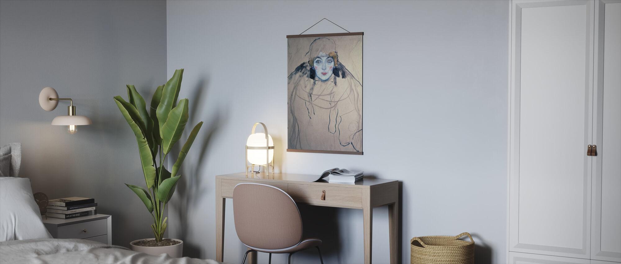 Head of a Woman, Gustav Klimt - Poster - Office