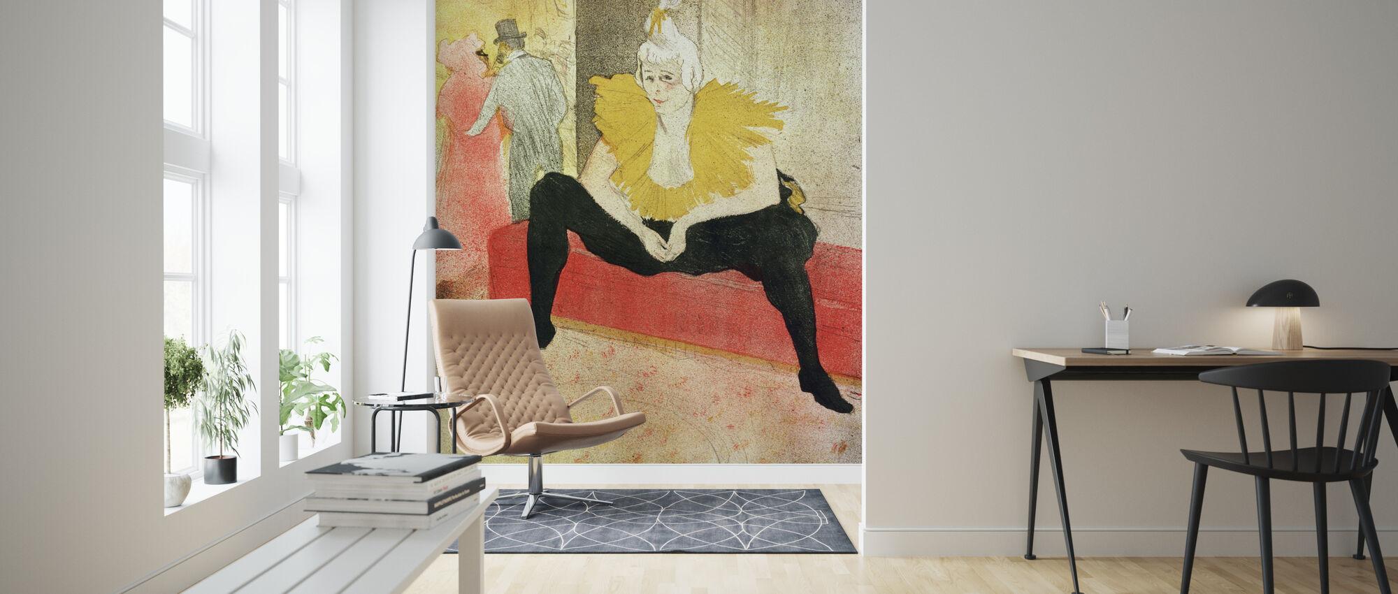 Clowness Looks Around, Henri Toulouse Lautrec - Wallpaper - Living Room