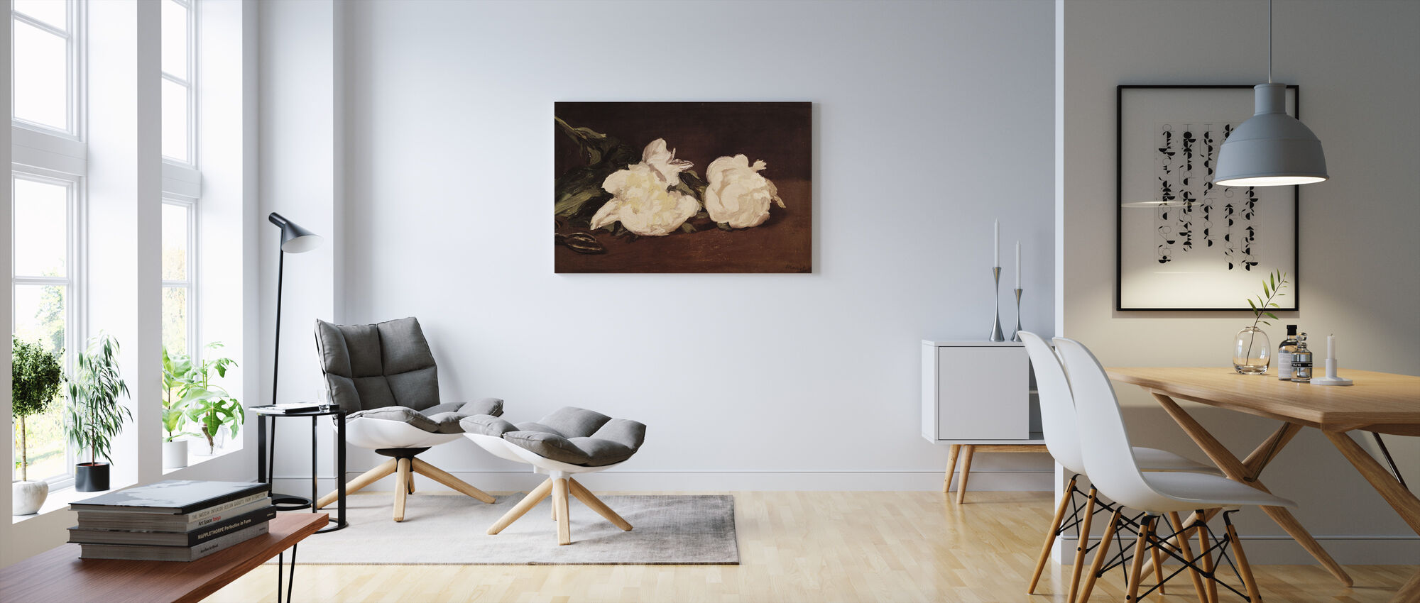Branch of White Peonies, Edouard Manet - Canvas print - Living Room