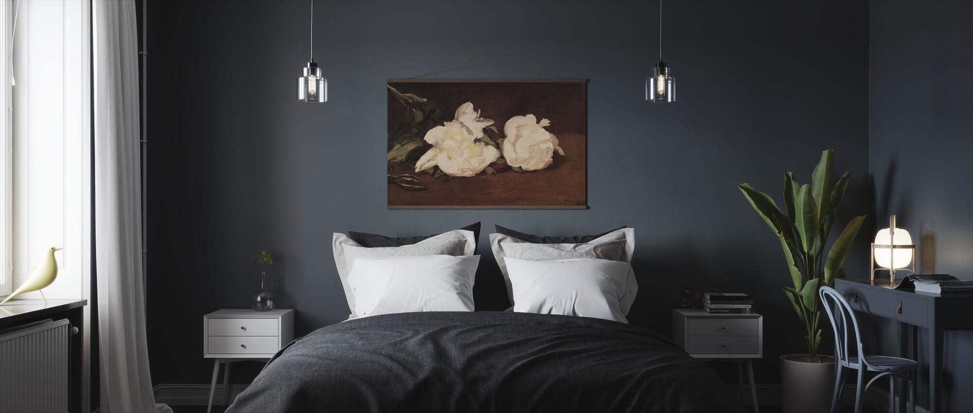 Valkoisten Peonien haara, Edouard Manet - Juliste - Makuuhuone