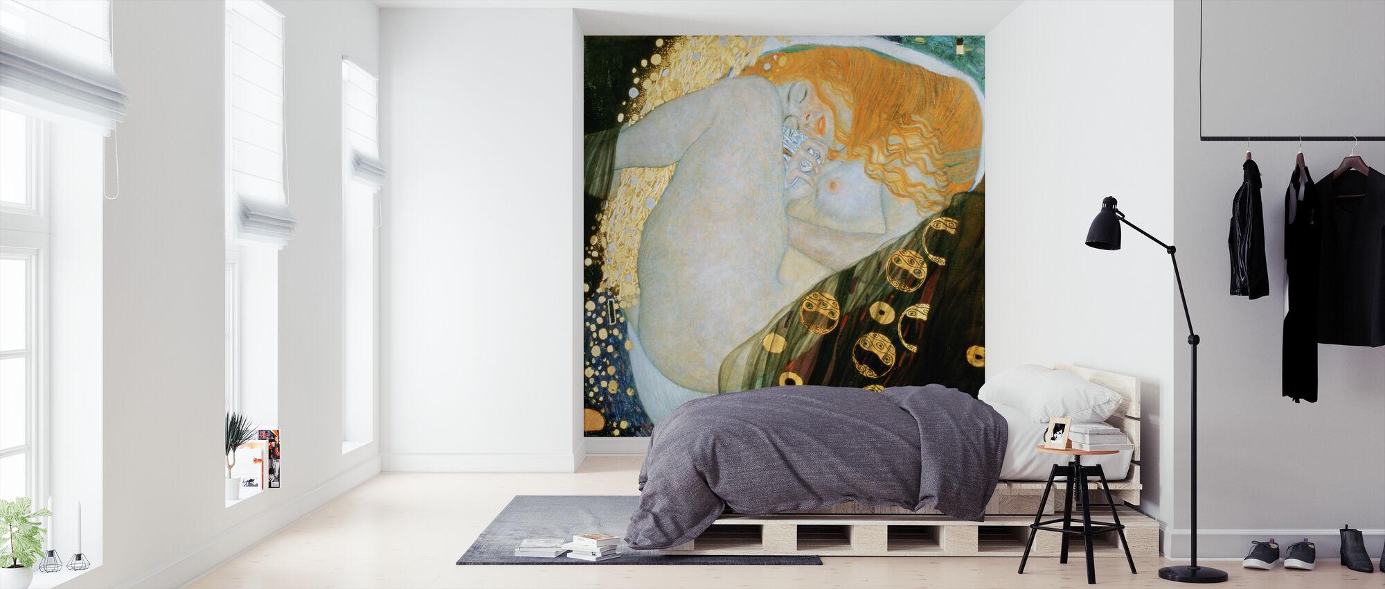 Danae, Gustav Klimt - Wallpaper - Bedroom