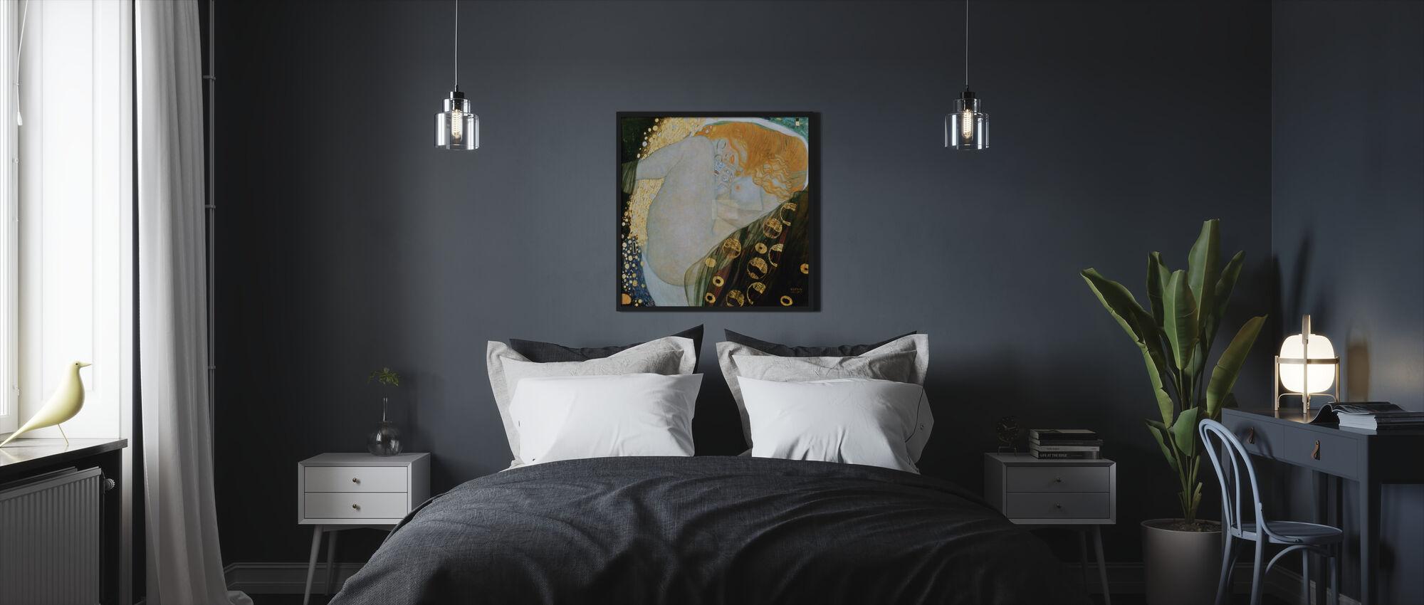 Danae, Gustav Klimt - Framed print - Bedroom