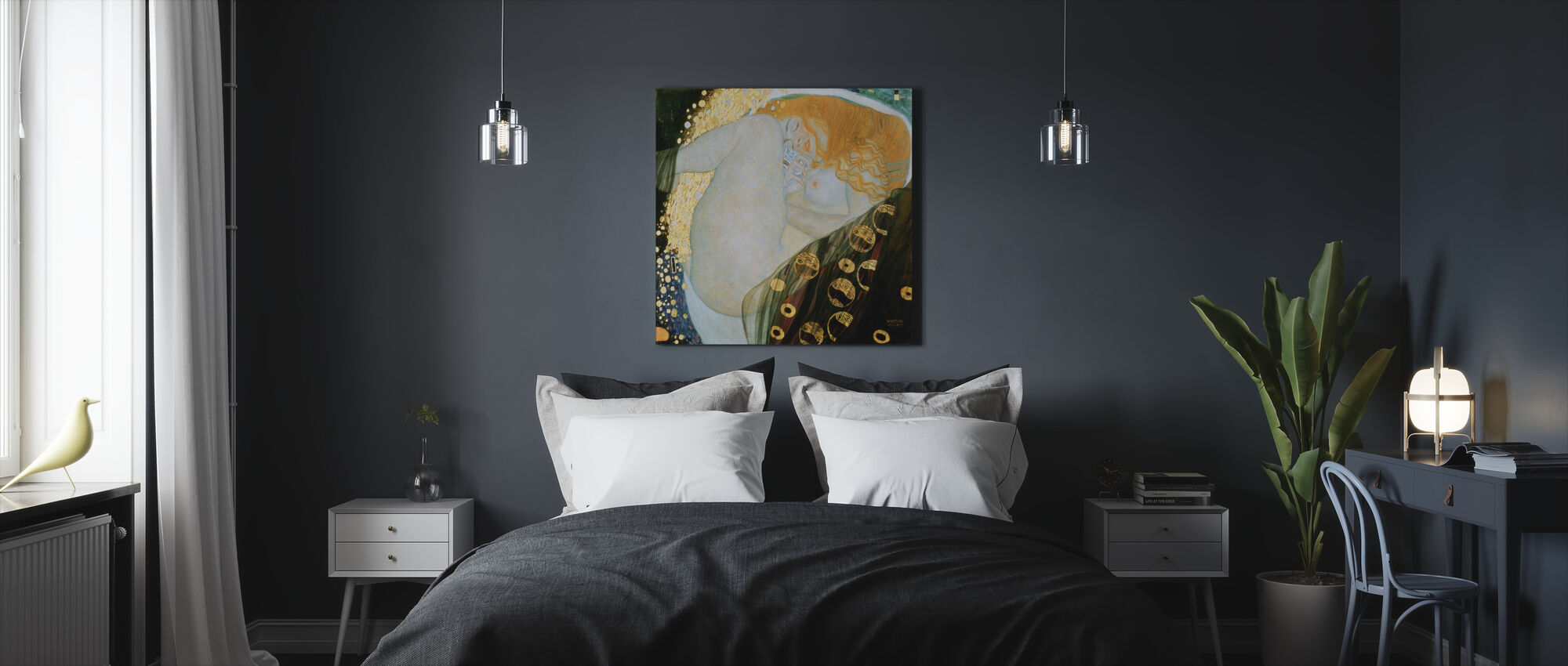 Danae, Gustav Klimt - Canvas print - Bedroom