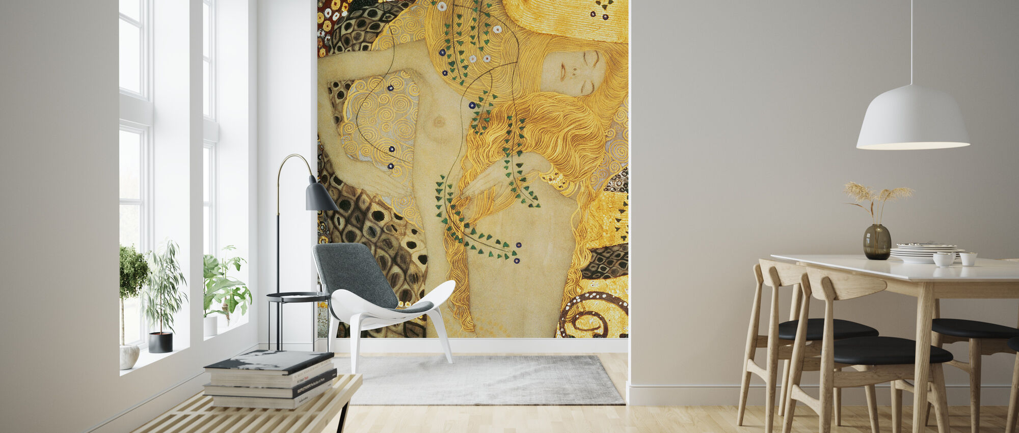 Water Serpents, Gustav Klimt - Wallpaper - Living Room