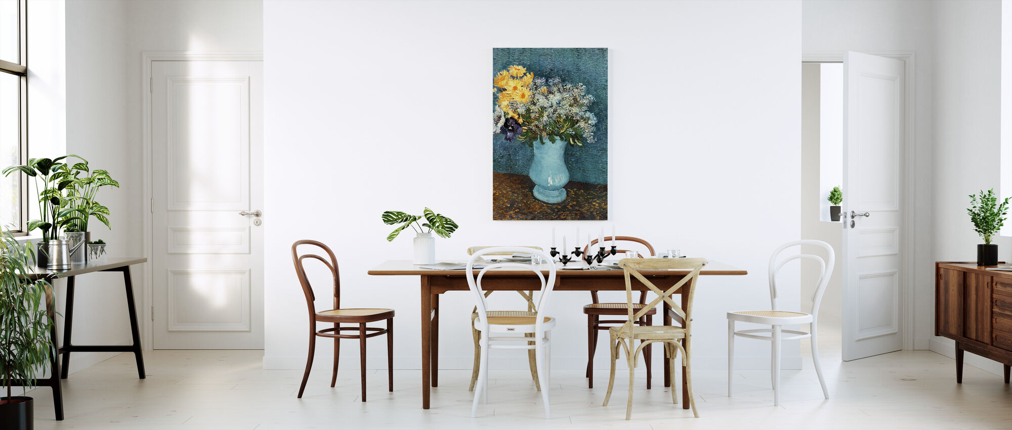 Vase with Lilacs, Daisies and Anemones, Vincent van Gogh - Canvas print - Kitchen