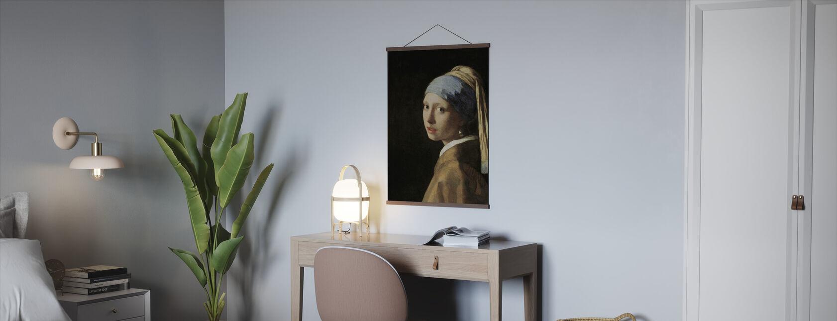 Jente med perleørering, Jan Vermeer - Plakat - Kontor