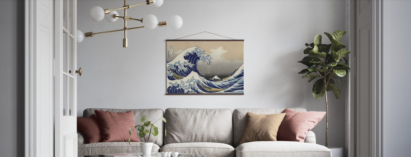 Great Wave, Katsushika Hokusai - Poster - Living Room