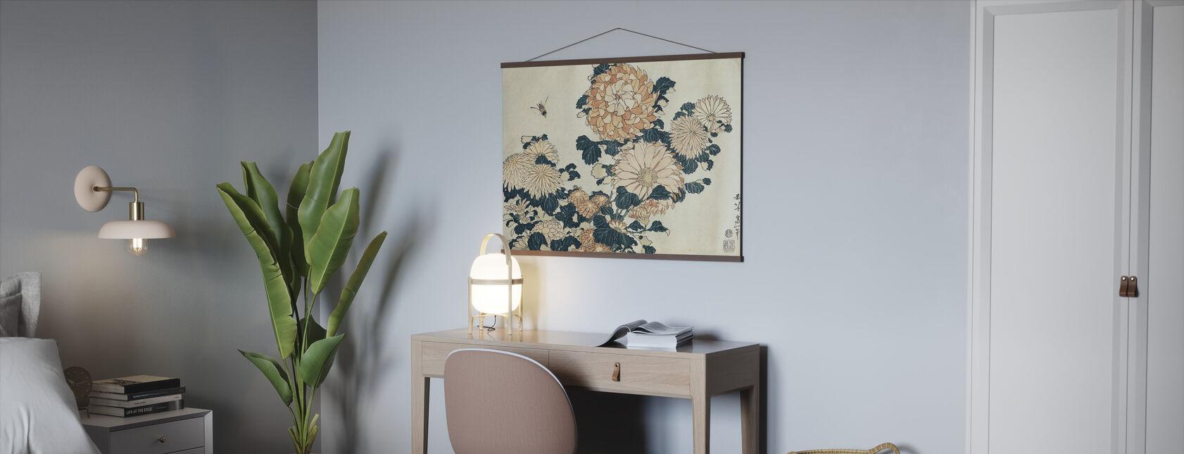 Krysantemum, Katsushika Hokusai - Poster - Kontor
