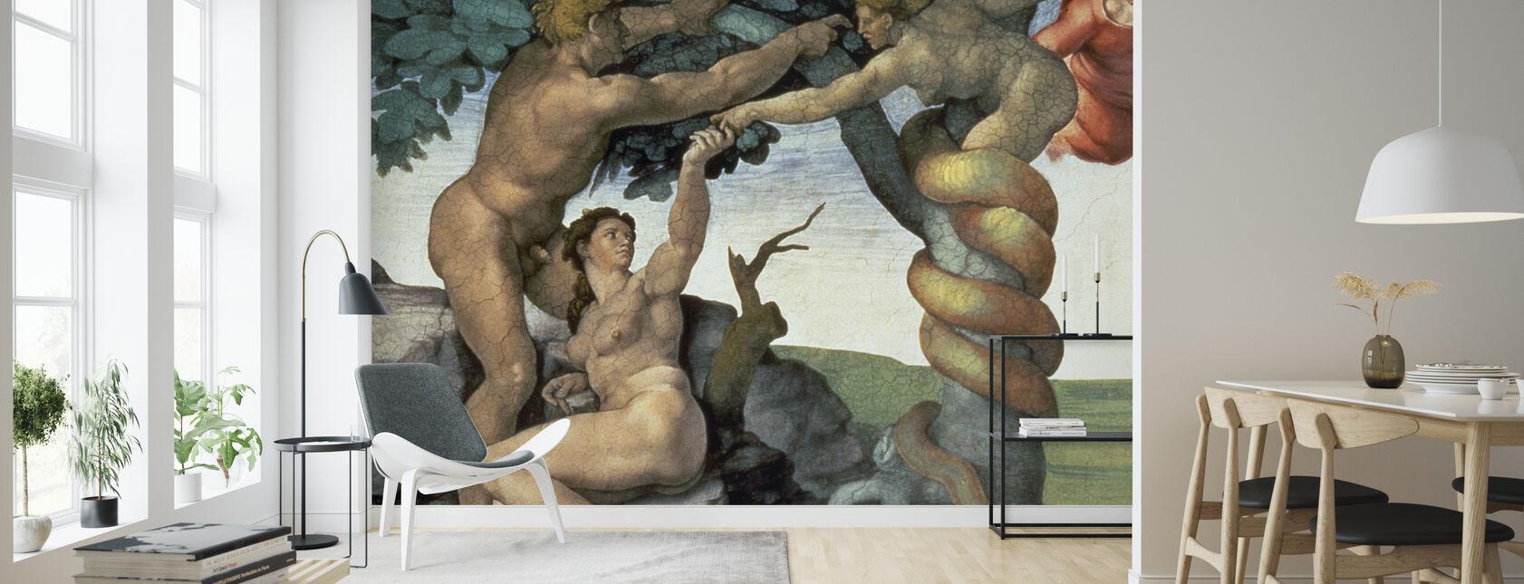 Decke der Sixtinischen Kapelle, Michelangelo Buonarroti - Tapete - Wohnzimmer