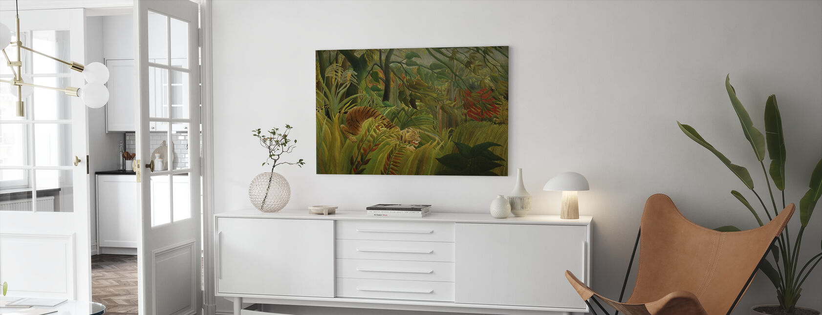 Tiger in a Tropical Storm, Henri Rousseau - Canvas print - Living Room