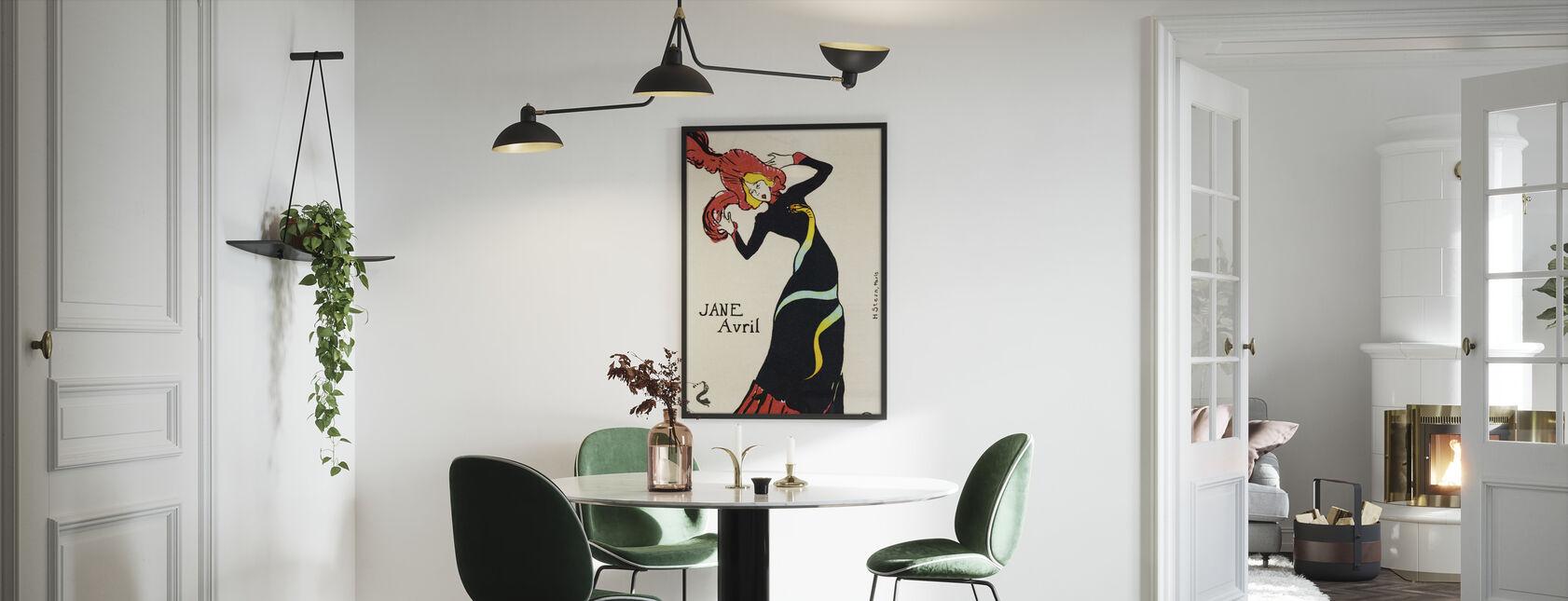 Jane Avril, Henri Toulouse Lautrec - Innrammet bilde - Kjøkken