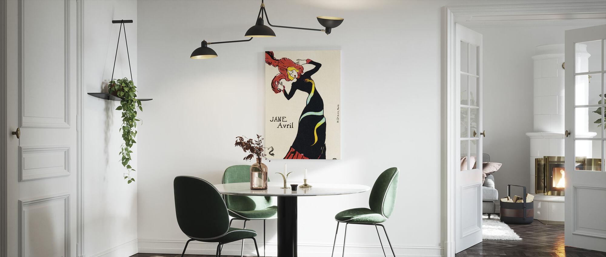 Jane Avril, Henri Toulouse Lautrec - Lerretsbilde - Kjøkken
