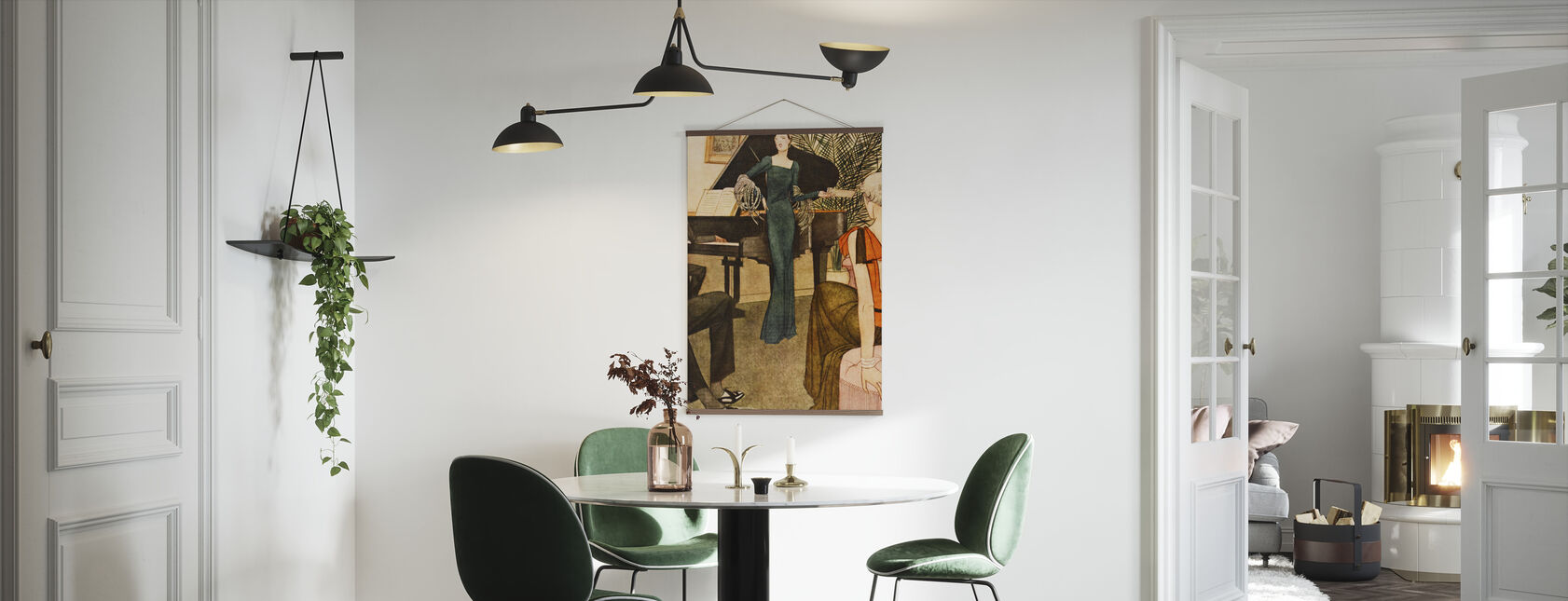 Lady Amuses her Guests, National Magazines - Poster - Kitchen