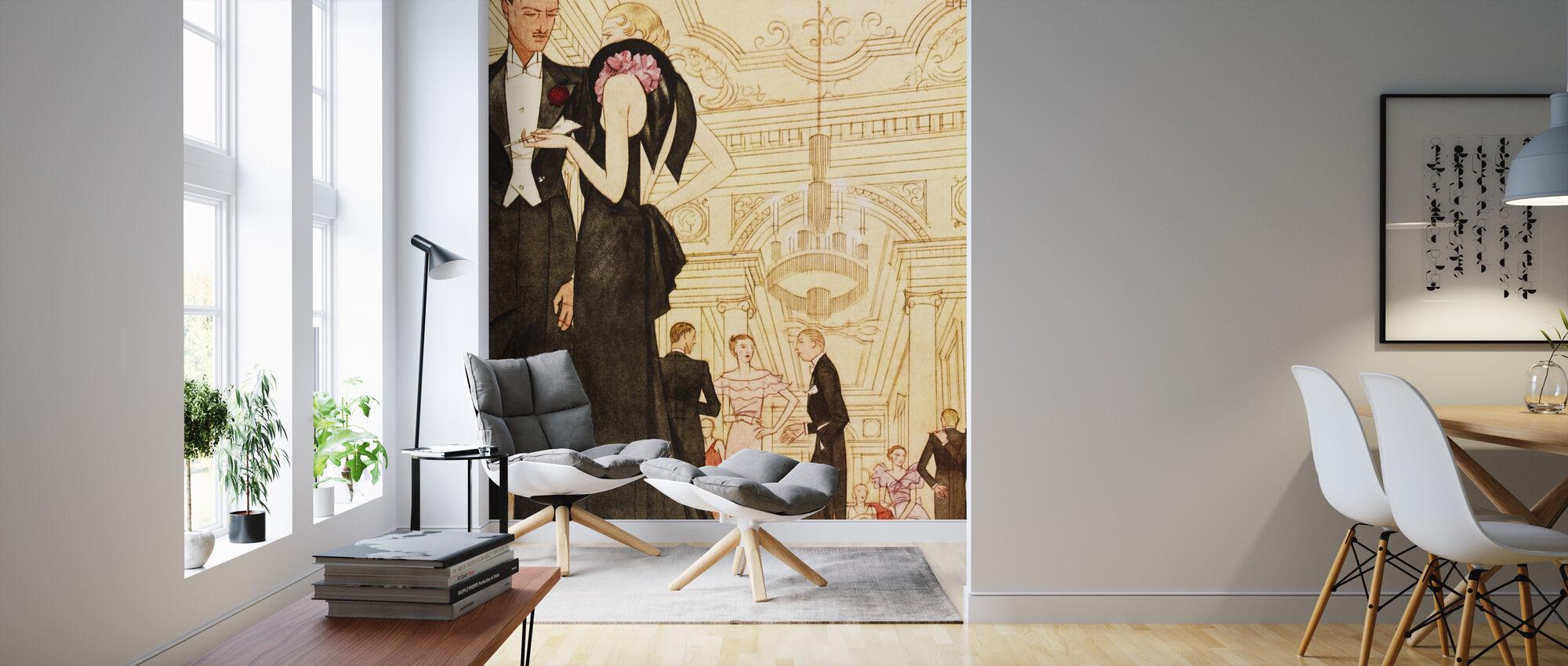 Evening Scene, National Magazines - Wallpaper - Living Room