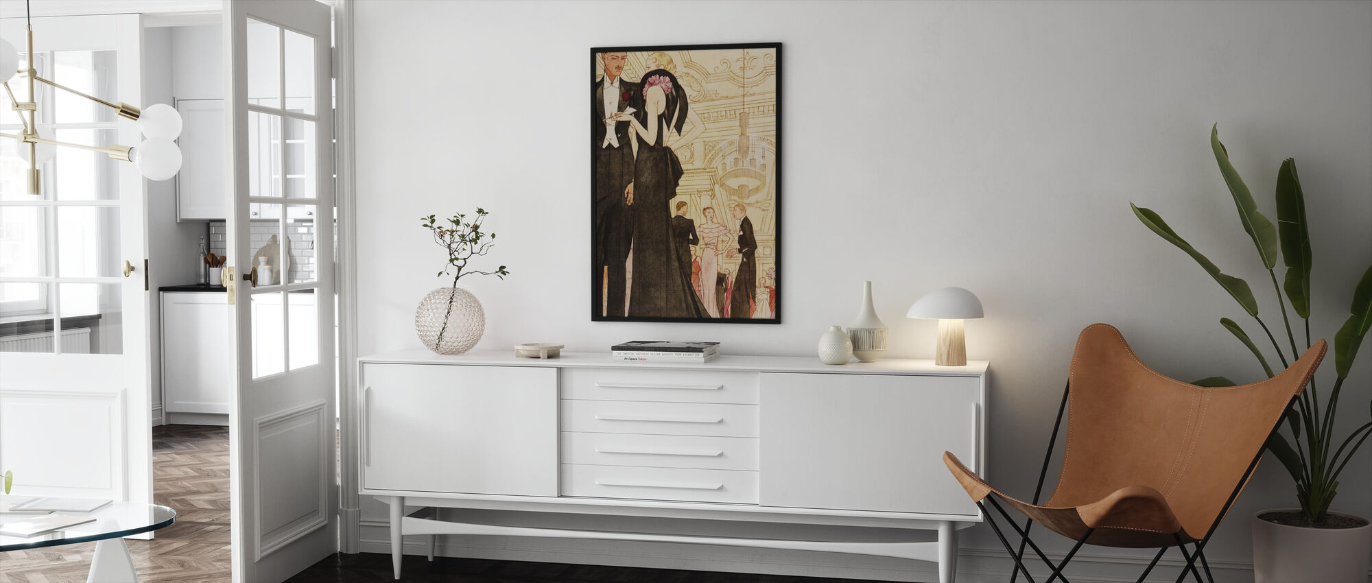 Evening Scene, National Magazines - Framed print - Living Room