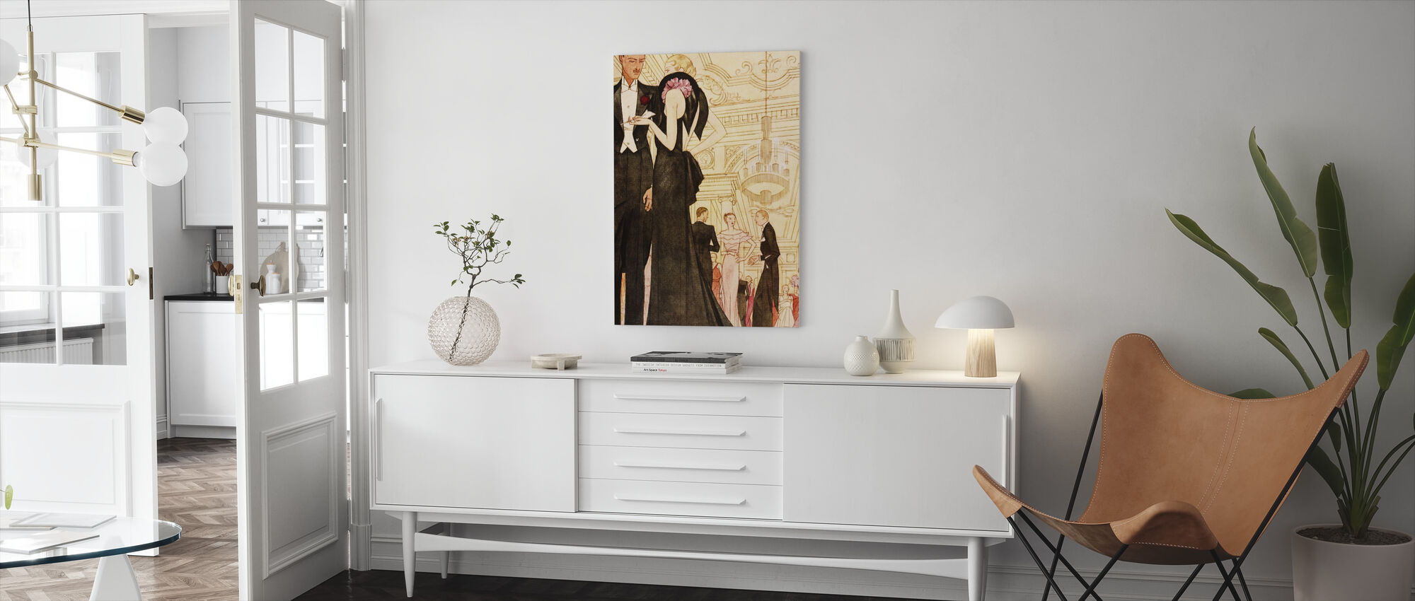 Evening Scene, National Magazines - Canvas print - Living Room