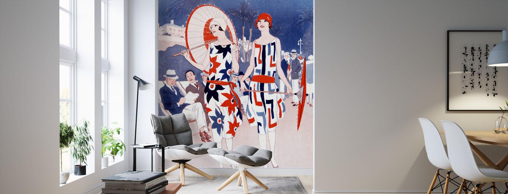 Ladies Promenading along a Sea Front, Wilton Williams - Wallpaper - Living Room