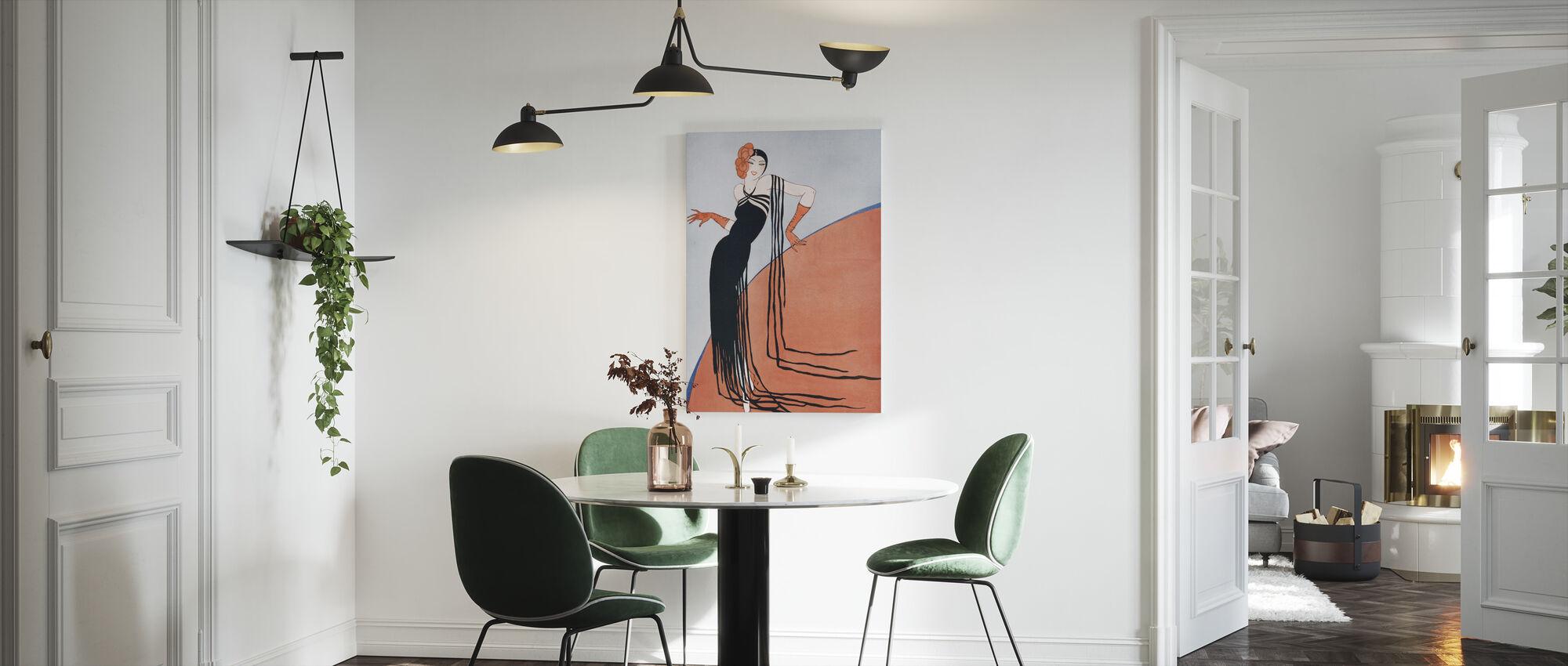 Spaanse dame, Gordon Conway - Canvas print - Keuken