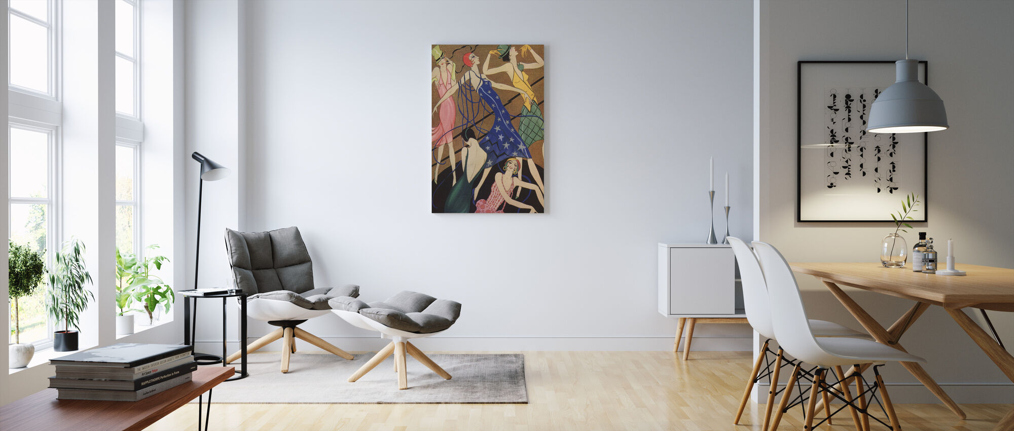 Models in Party Dresses, Gordon Conway - Canvas print - Living Room