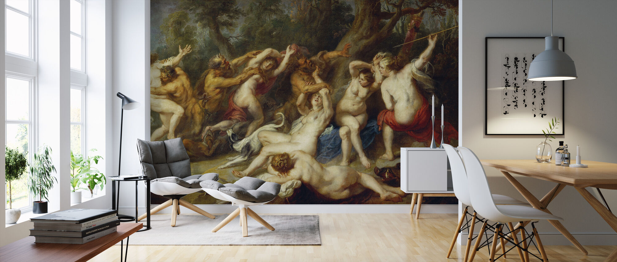 Diana and her Nymphs, Peter Paul Rubens - Wallpaper - Living Room