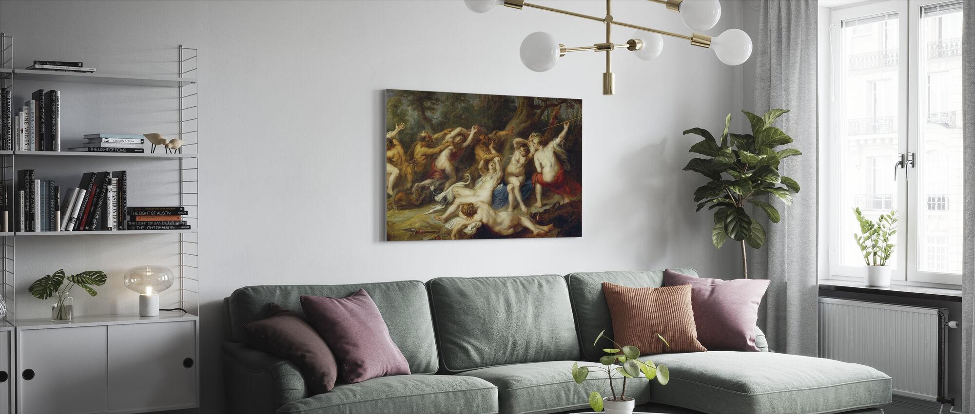 Diana i jej nimfy, Peter Paul Rubens - Obraz na płótnie - Pokój dzienny