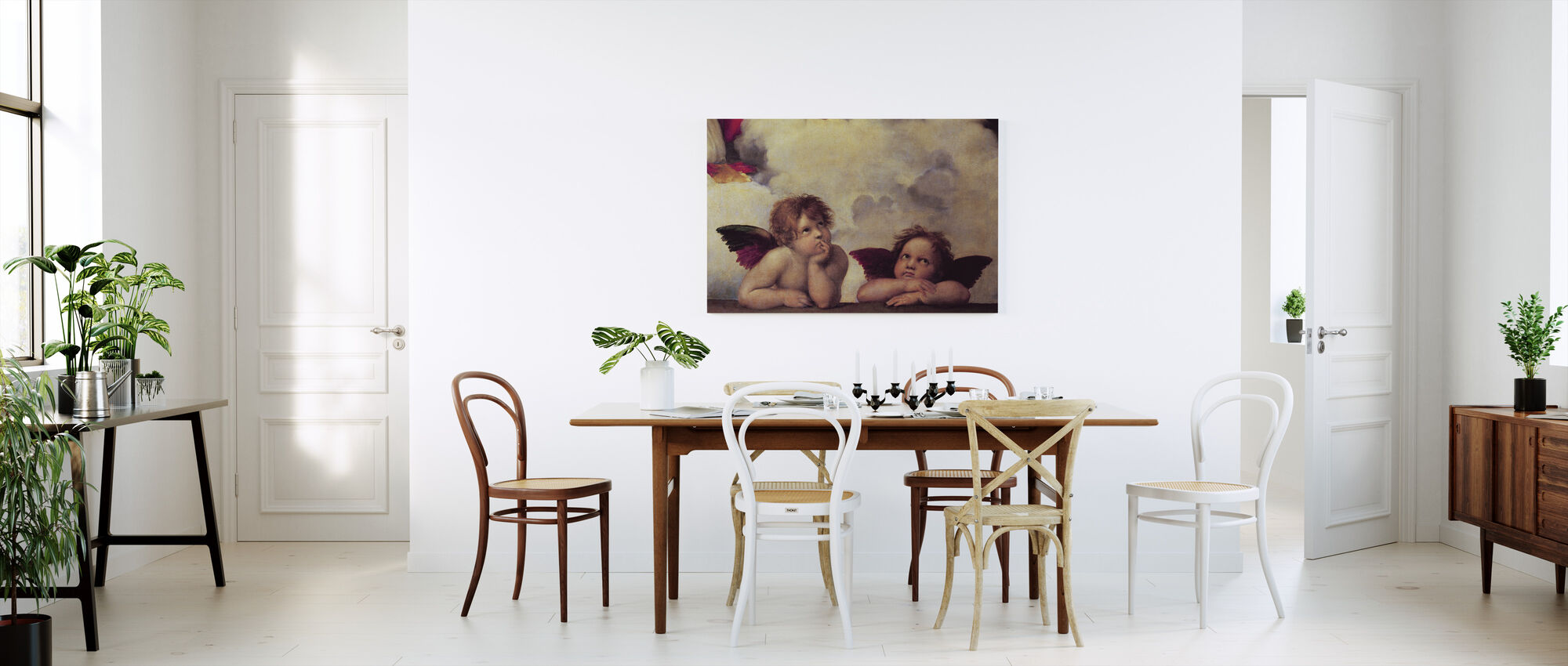 Two Angels, Raffaello Santi - Canvas print - Kitchen