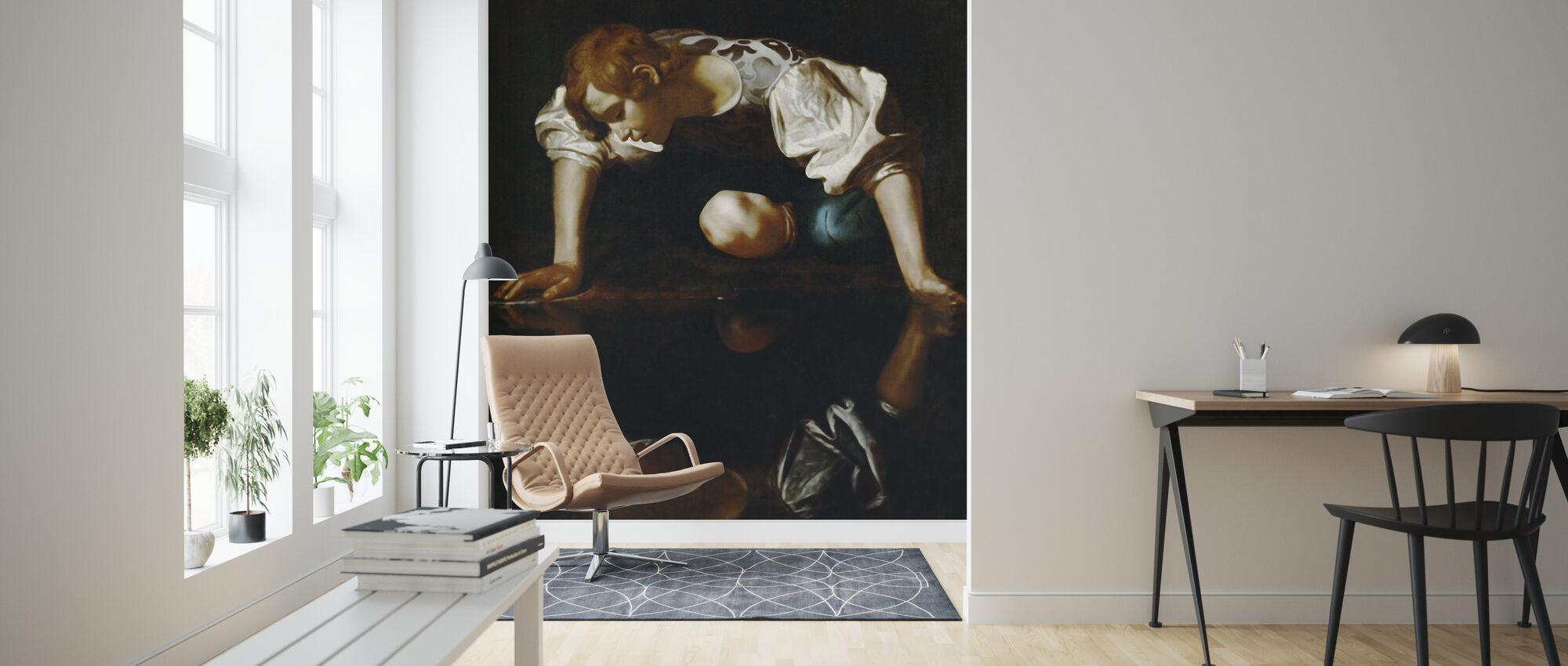 Narcissus, Michelangelo Merisi - Wallpaper - Living Room