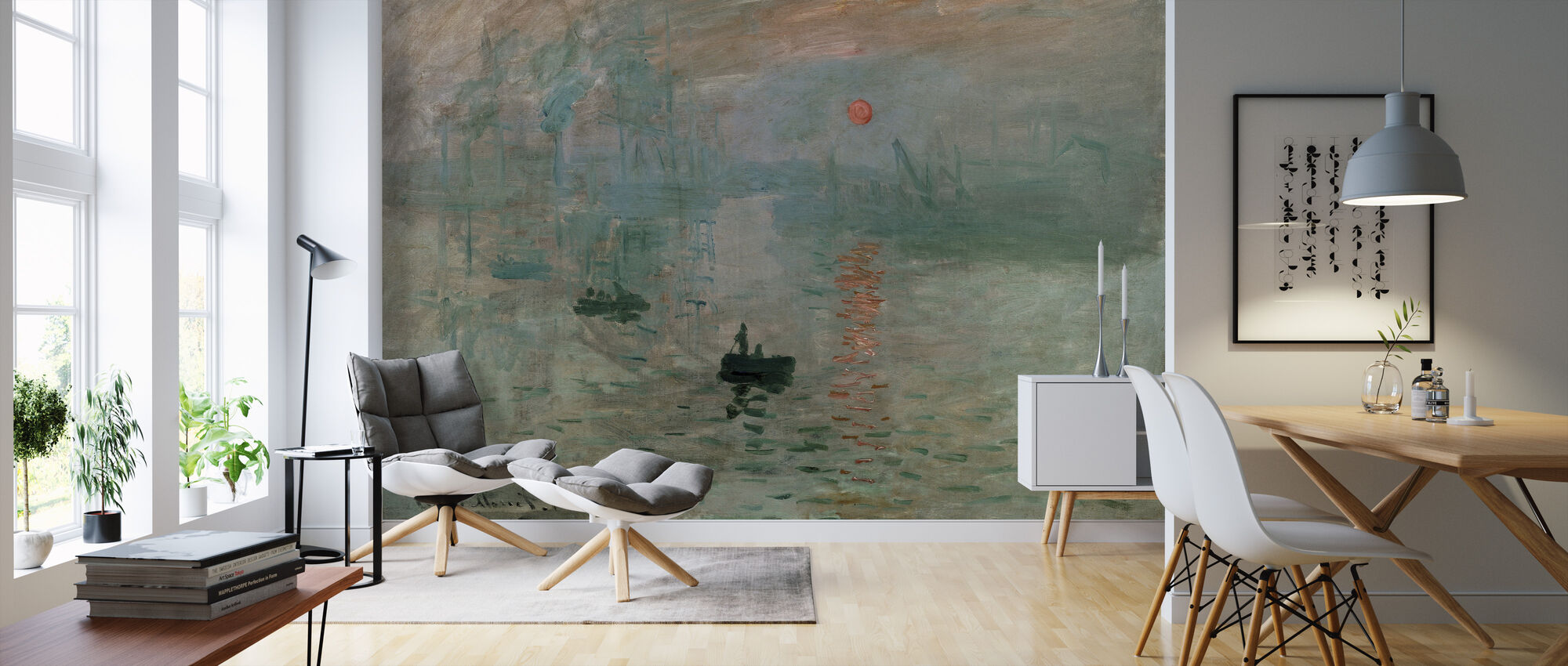 Monet, Claud - Impression - Wallpaper - Living Room