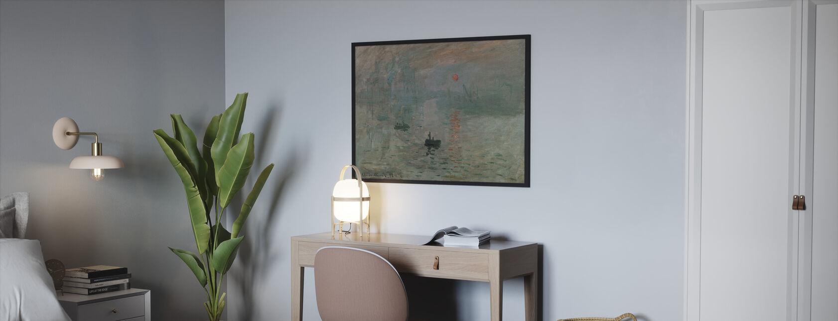 Monet, Claud - Impressie - Ingelijste print - Slaapkamer
