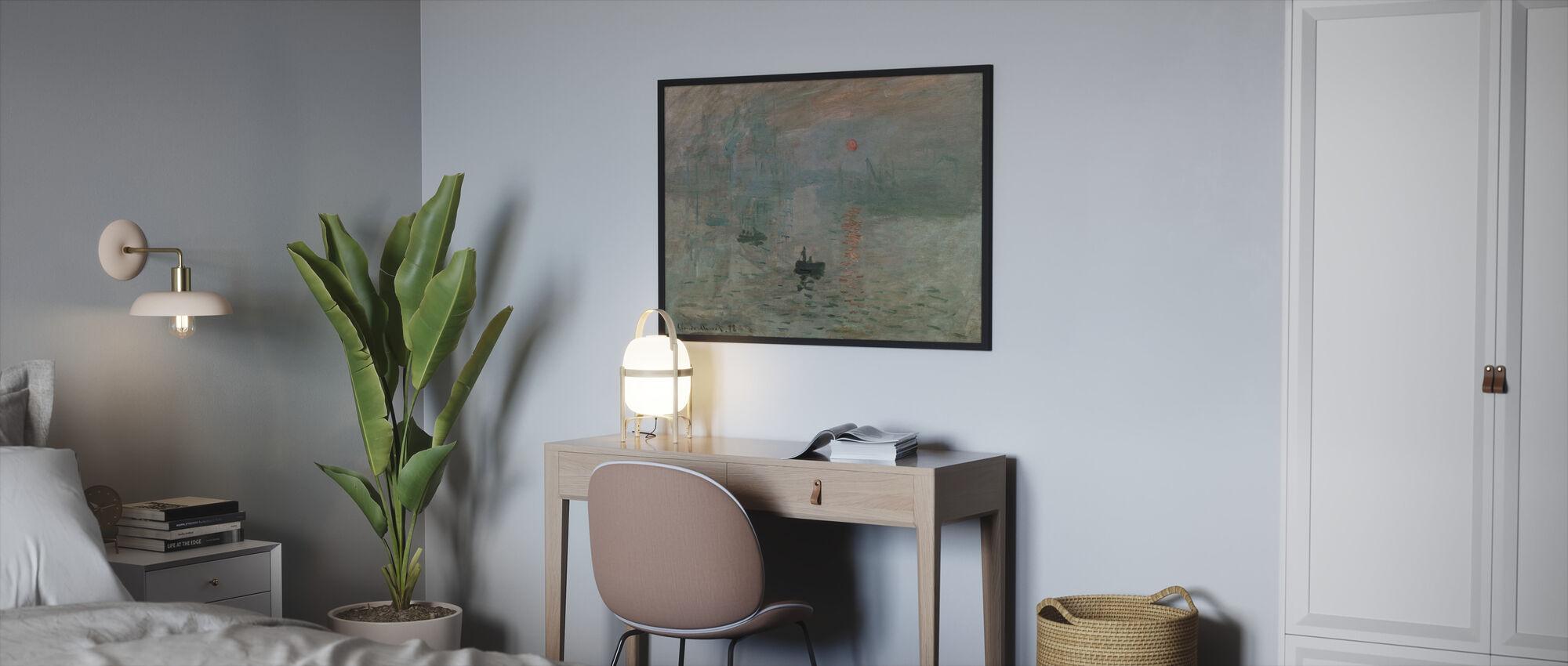 Monet, Claud - Impression - Kehystetty kuva - Makuuhuone