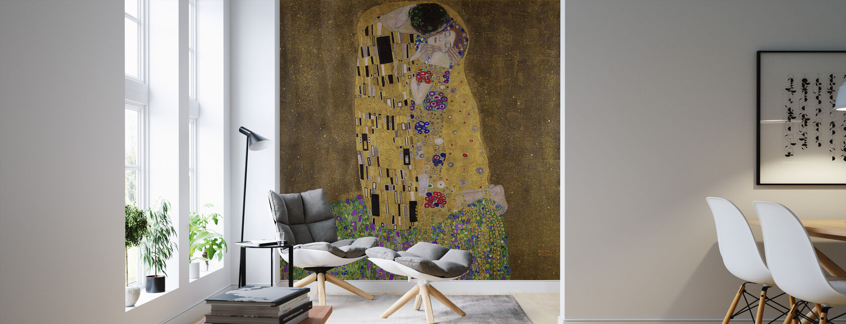 The Kiss, Gustav Klimt - Wallpaper - Living Room