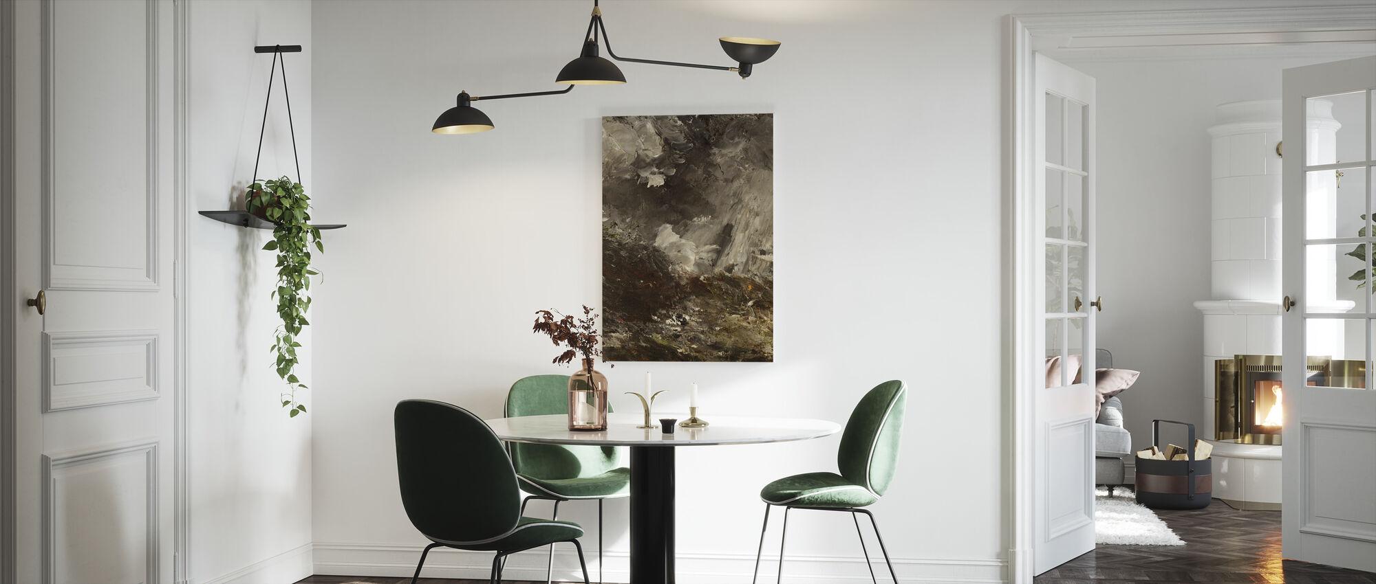 Natt av sjalusi, August Strindberg - Lerretsbilde - Kjøkken