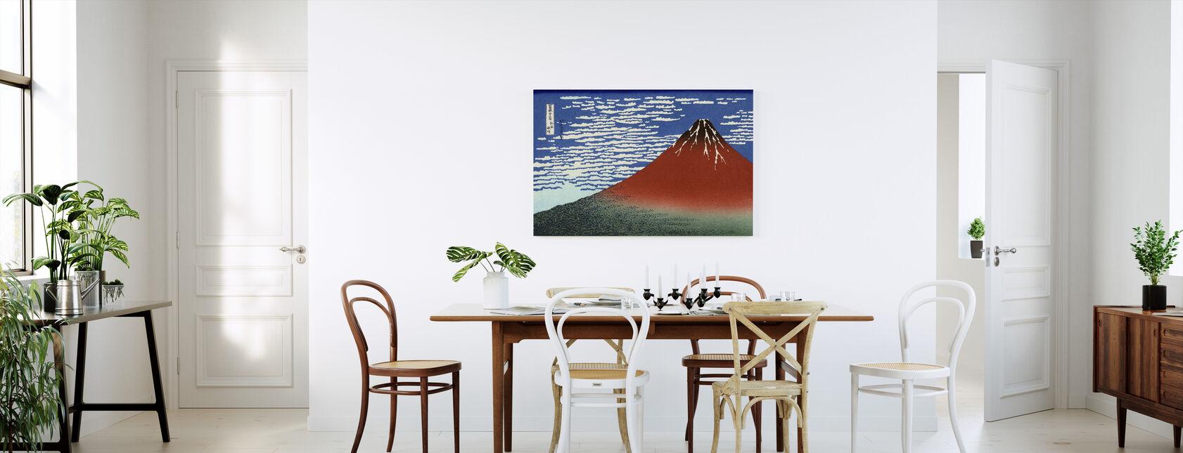 Red Fuji, Katsushika Hokusai - Canvas print - Kitchen