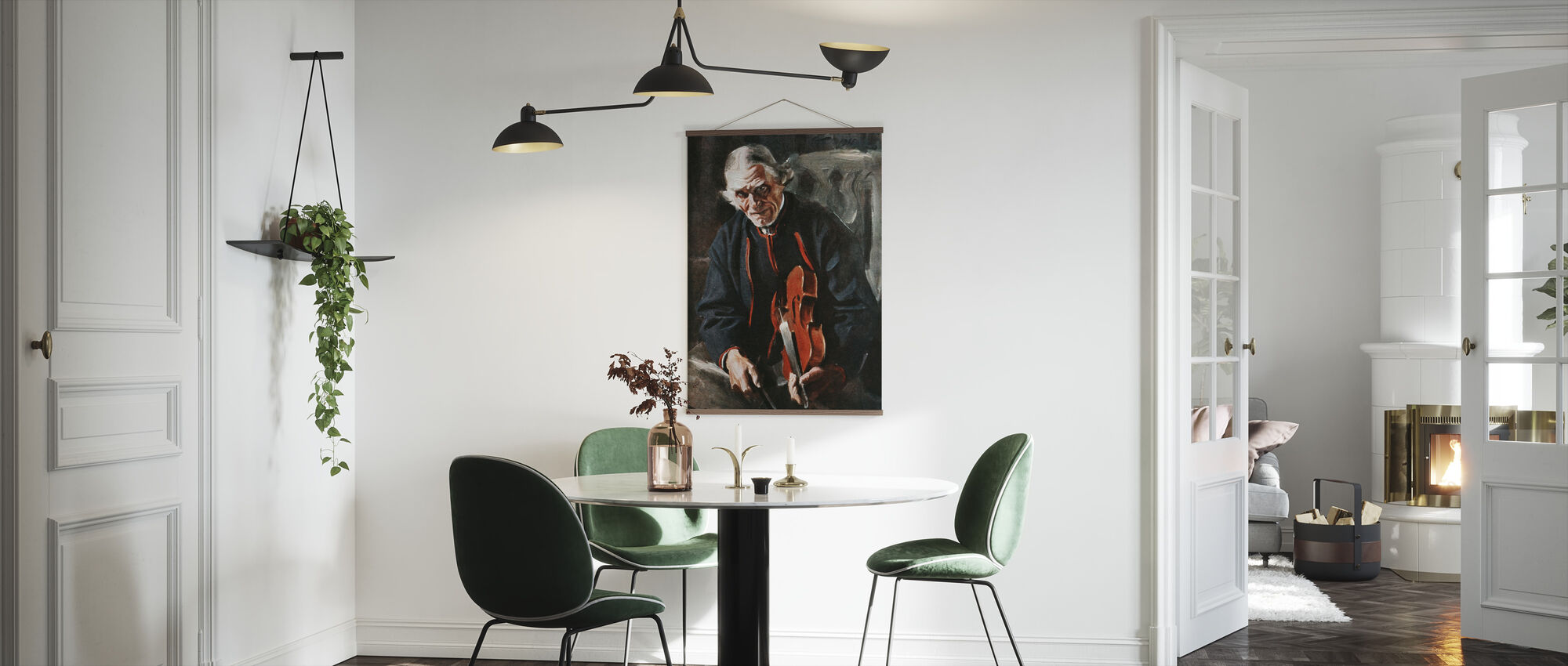 Fiolinspilleren, Anders Zorn - Plakat - Kjøkken