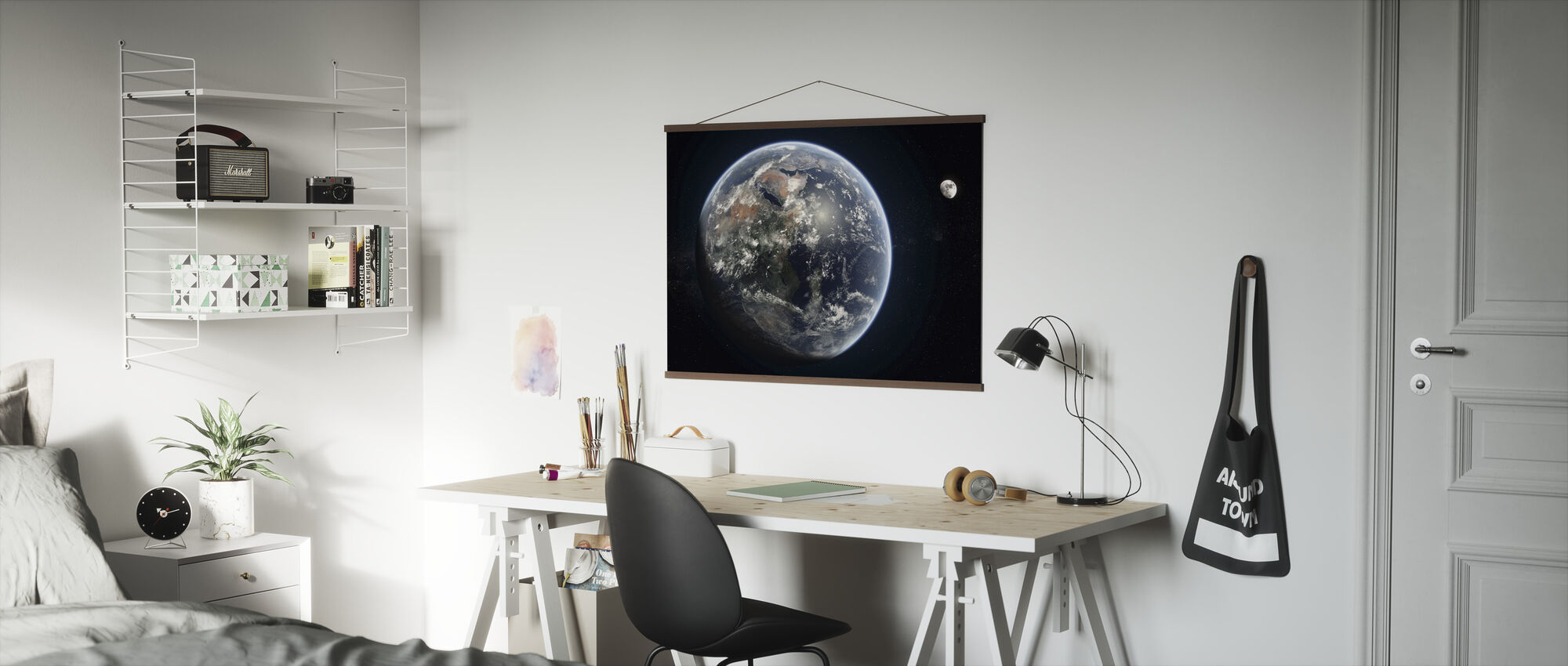 Blå prik - Plakat - Kontor