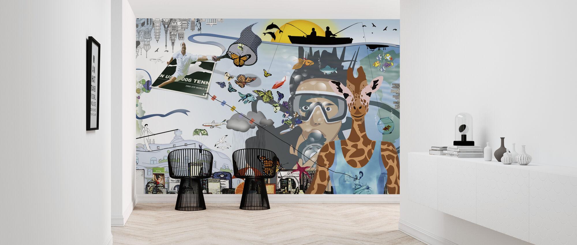 Akinolaude - Wallpaper - Hallway