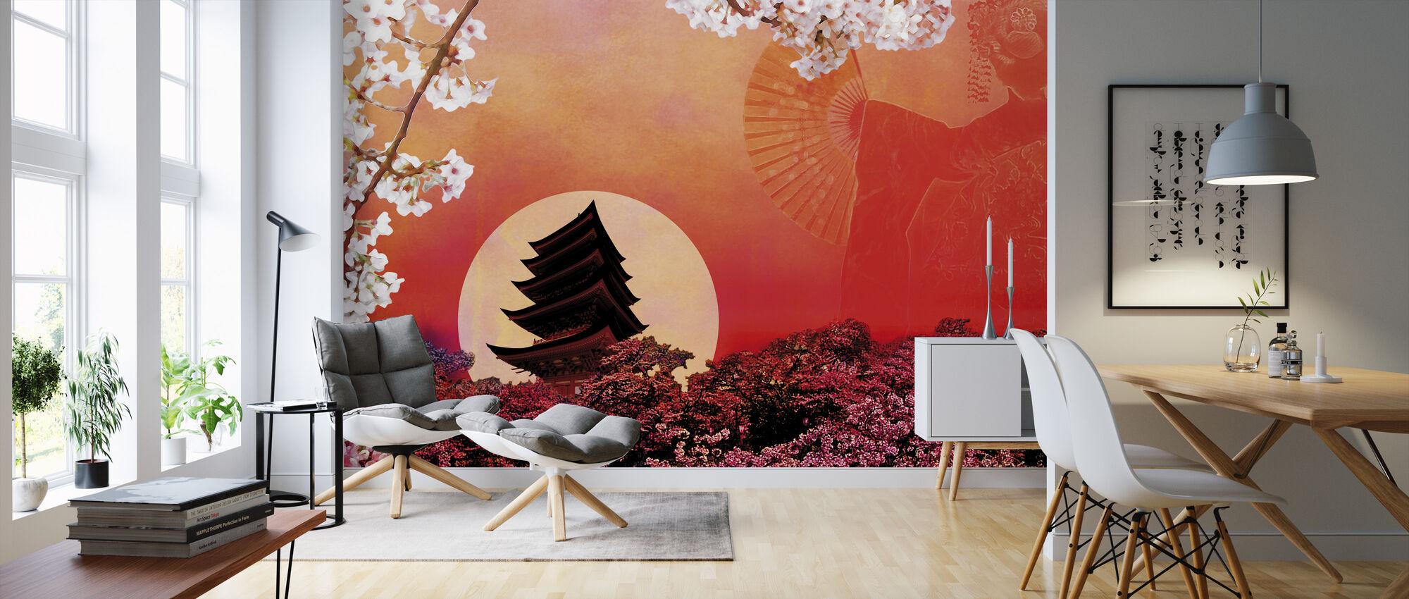 Rising Sun - Wallpaper - Living Room