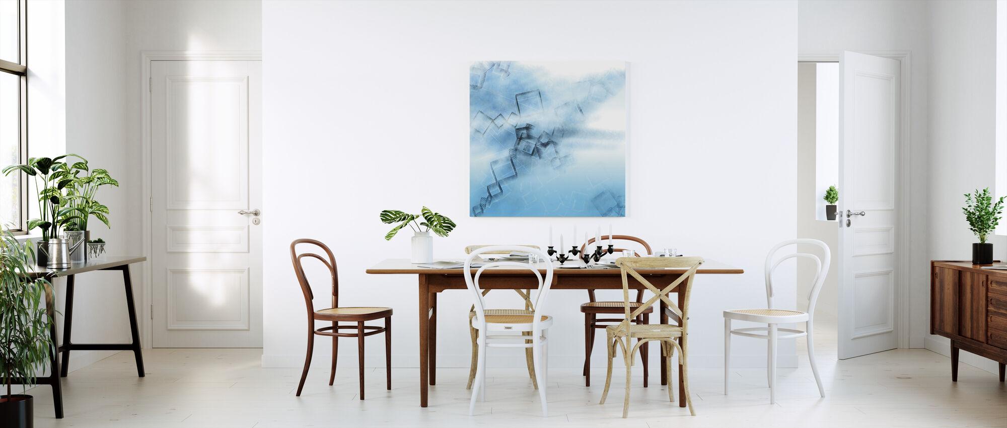 Blå spill - Lerretsbilde - Kjøkken