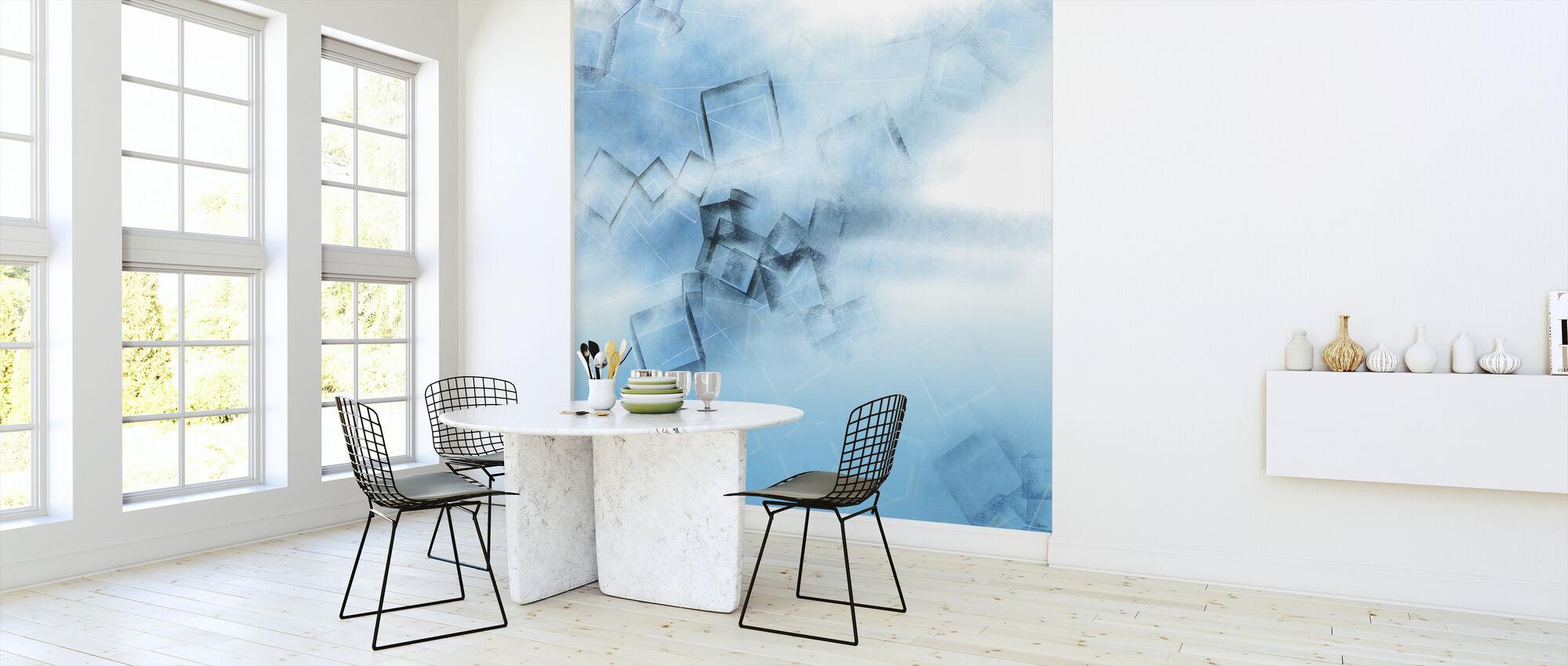 Blå spill - Tapet - Kjøkken