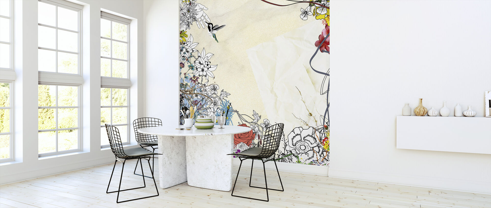 Creating a Bird - Wallpaper - Kitchen