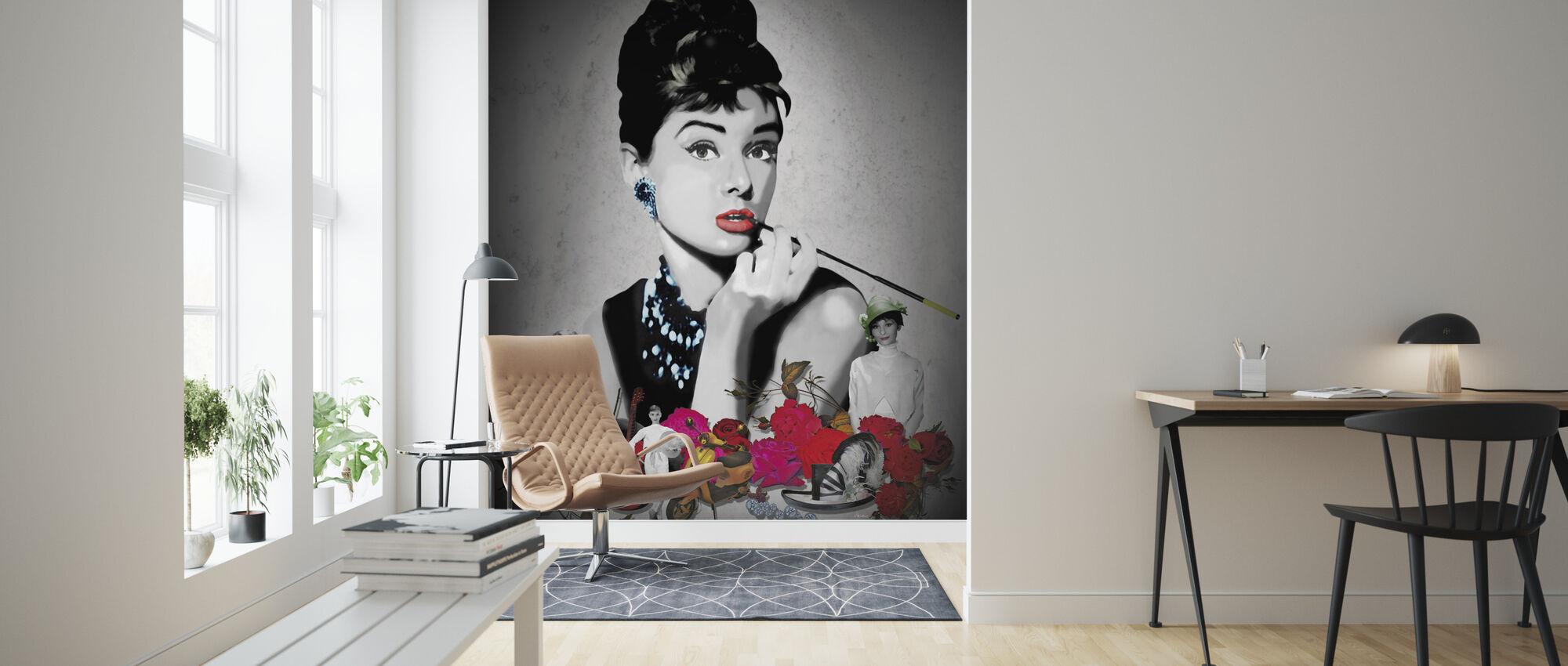 Hepburn - Musta - Tapetti - Olohuone