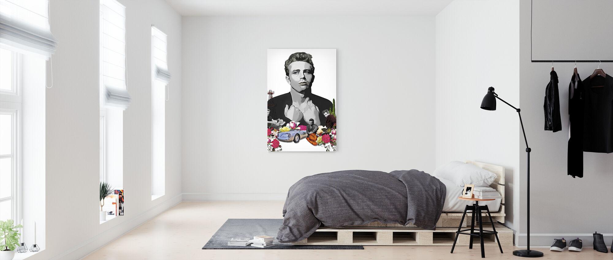 Dean - White - Canvas print - Bedroom