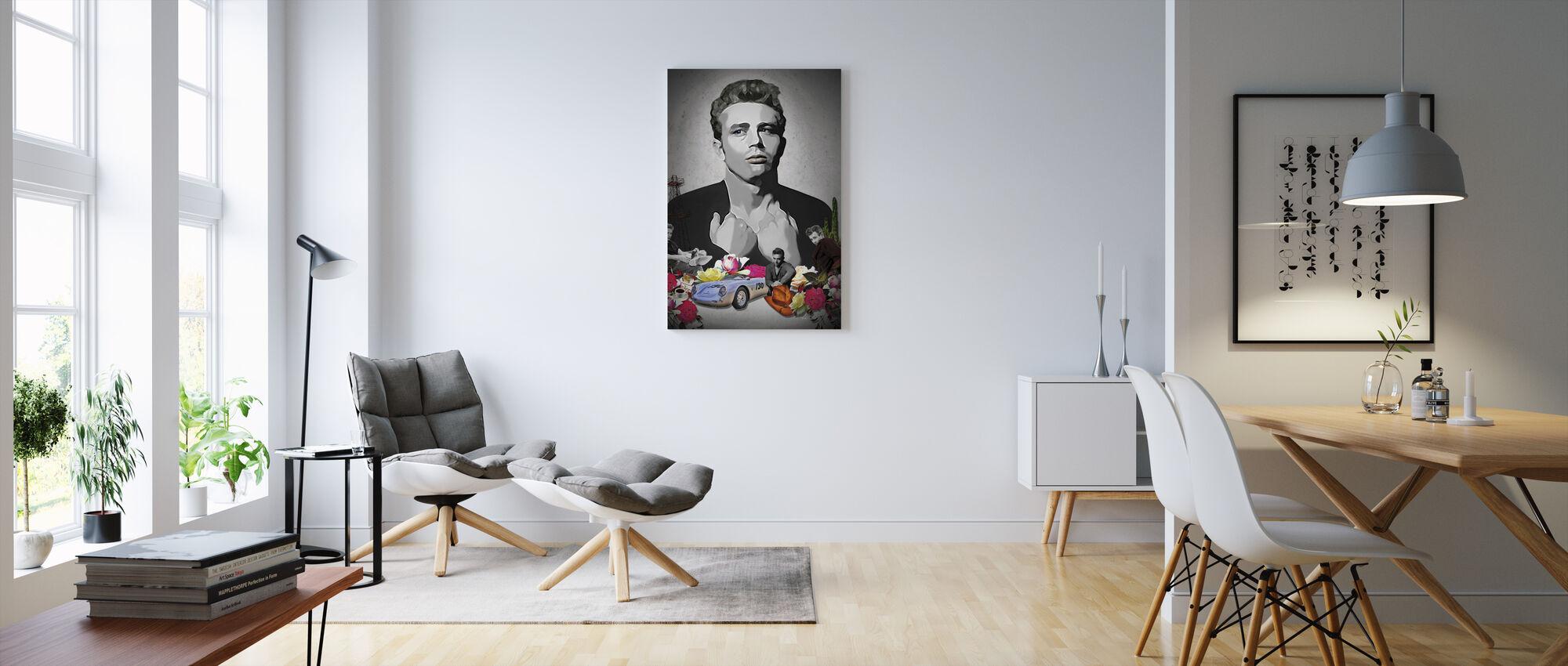 Dean - Sort - Billede på lærred - Stue