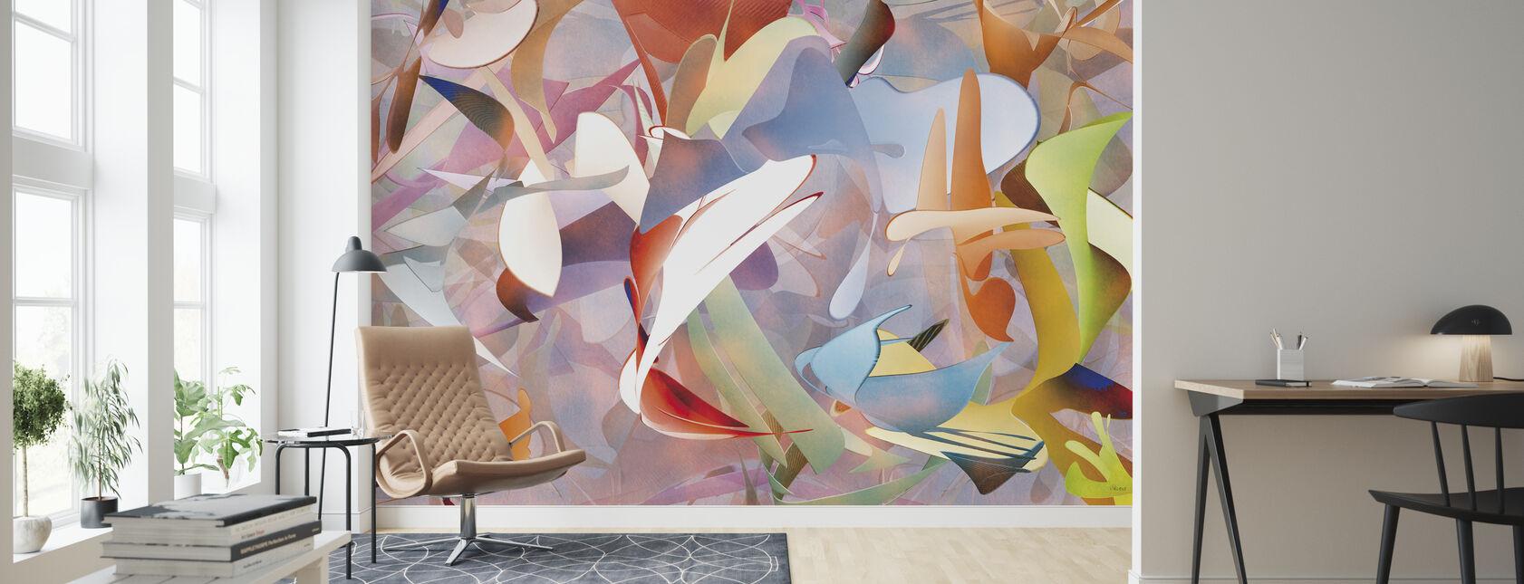 Dog Dreams - Wallpaper - Living Room
