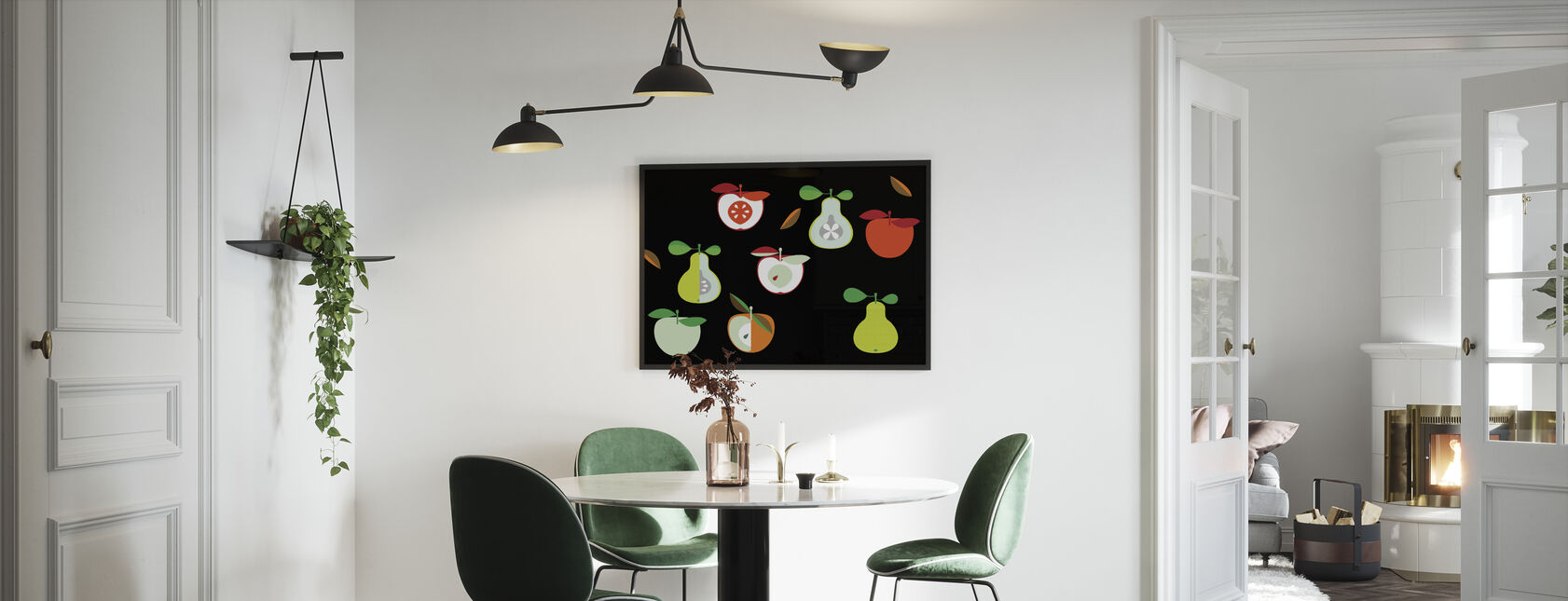 Kivik Apple and Pear - Framed print - Kitchen