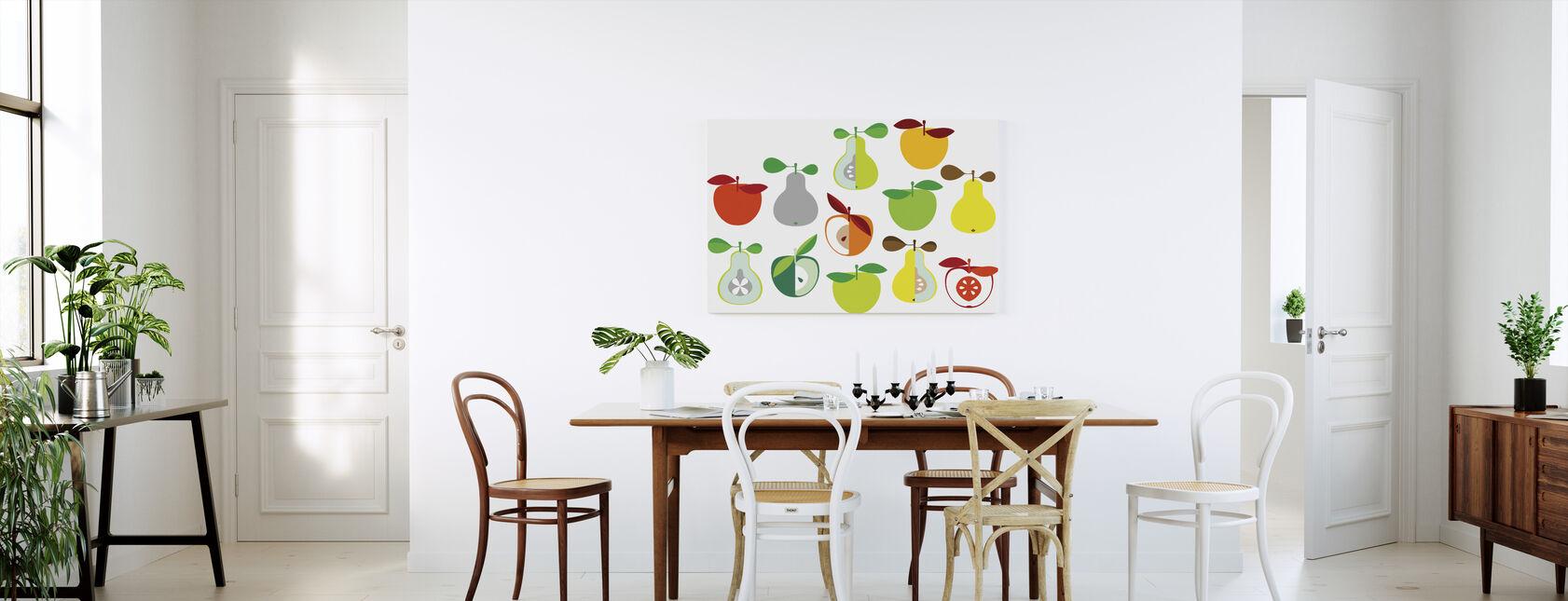Kivik Apple and Pear - White - Canvas print - Kitchen