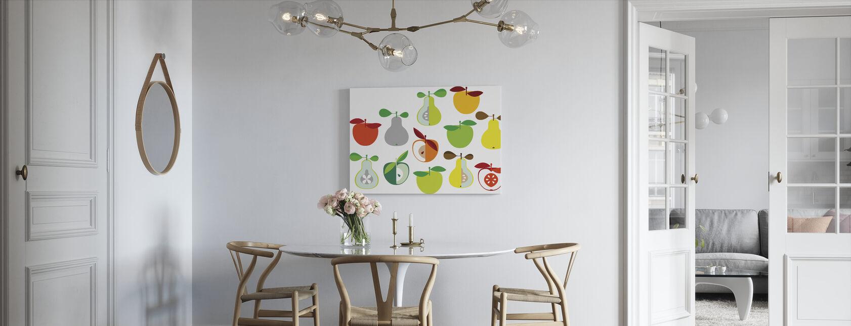 Kivik Äpple och päron - Vit - Canvastavla - Kök