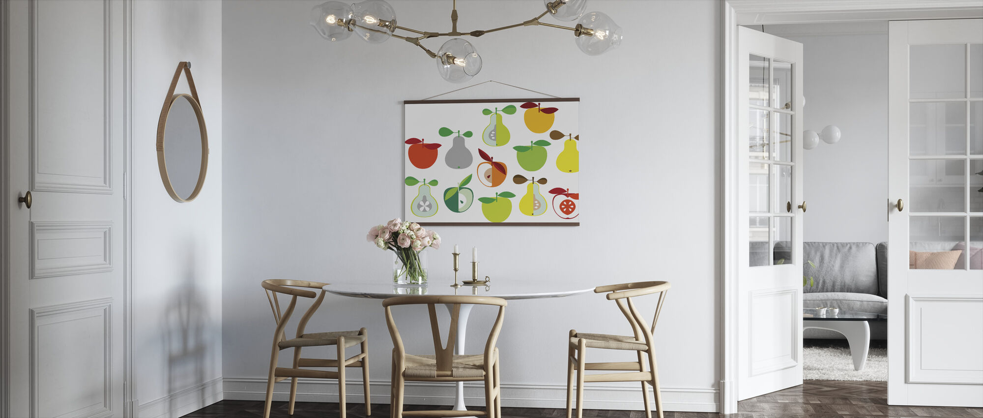 Kivik Apple and Pear - White - Poster - Kitchen
